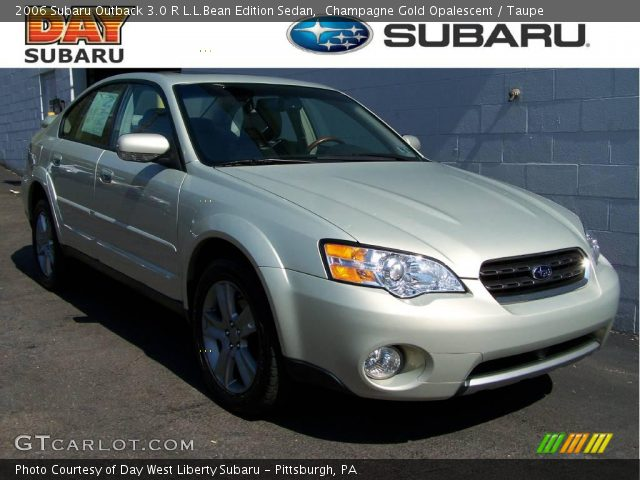 champagne gold opalescent 2006 subaru outback 3 0 r l l. Black Bedroom Furniture Sets. Home Design Ideas