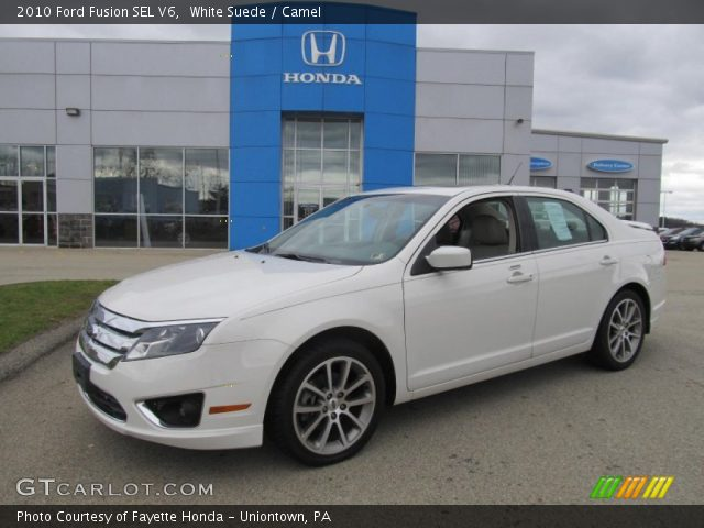 white suede 2010 ford fusion sel v6 camel interior vehicle archive 73054686. Black Bedroom Furniture Sets. Home Design Ideas