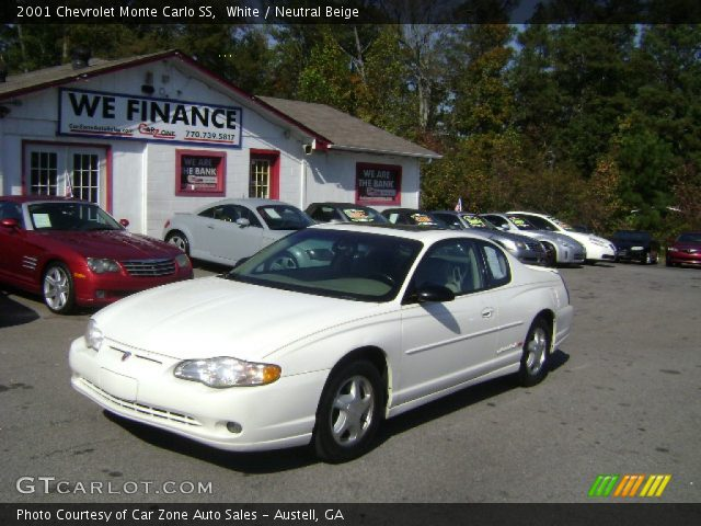 white 2001 chevrolet monte carlo ss neutral beige interior vehicle archive. Black Bedroom Furniture Sets. Home Design Ideas