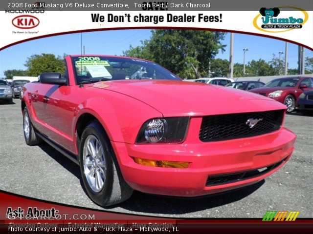 torch red 2008 ford mustang v6 deluxe convertible dark. Black Bedroom Furniture Sets. Home Design Ideas