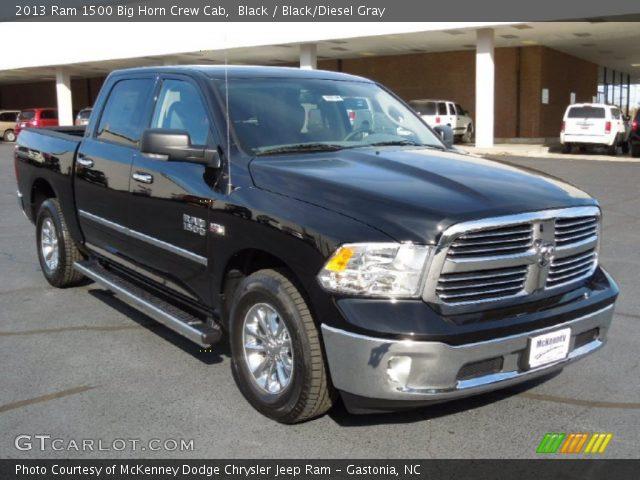 black 2013 ram 1500 big horn crew cab black diesel gray interior vehicle. Black Bedroom Furniture Sets. Home Design Ideas