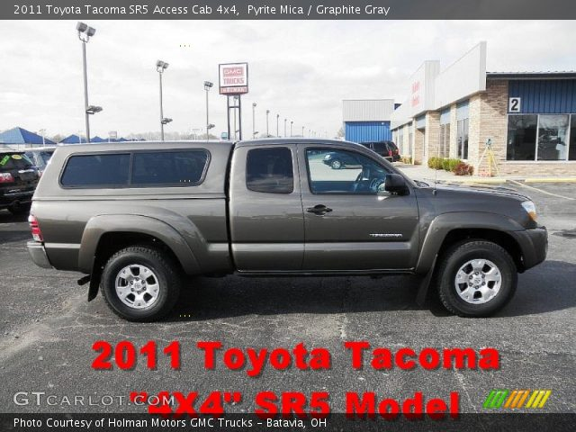 pyrite mica 2011 toyota tacoma sr5 access cab 4x4 graphite gray interior. Black Bedroom Furniture Sets. Home Design Ideas