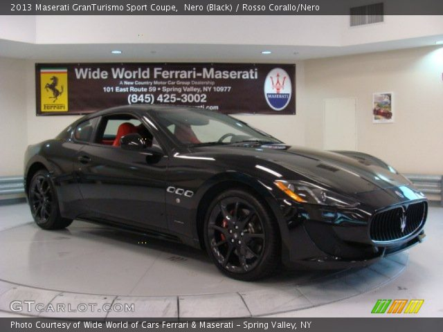 2013 Maserati GranTurismo Sport Coupe in Nero (Black)