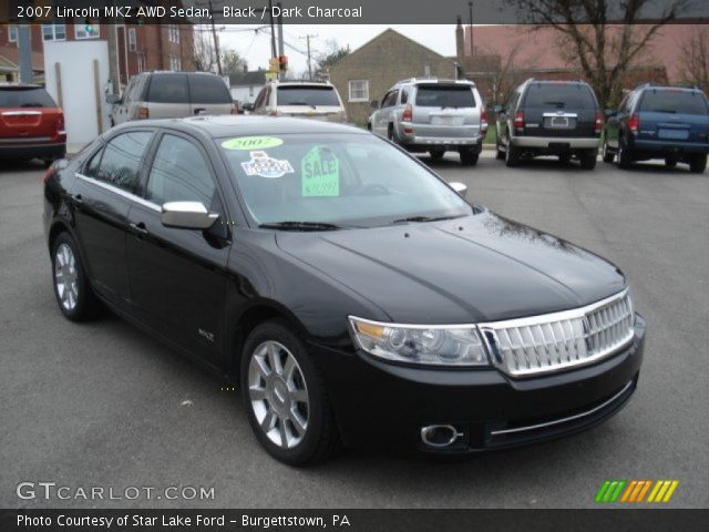 black 2007 lincoln mkz awd sedan dark charcoal. Black Bedroom Furniture Sets. Home Design Ideas