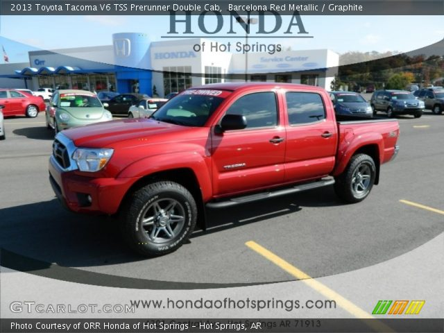 barcelona red metallic 2013 toyota tacoma v6 tss prerunner double cab graphite interior. Black Bedroom Furniture Sets. Home Design Ideas