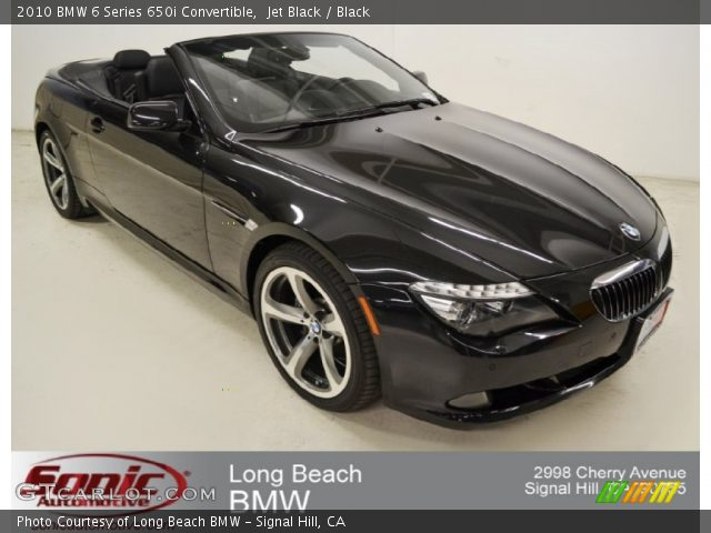 jet black 2010 bmw 6 series 650i convertible black. Black Bedroom Furniture Sets. Home Design Ideas