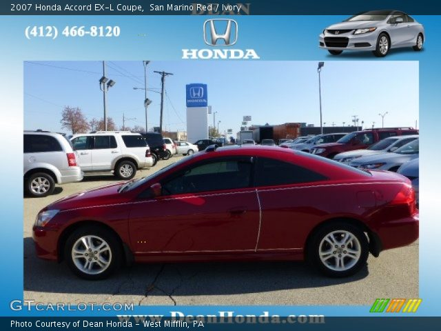 2007 Honda Accord EX-L Coupe in San Marino Red