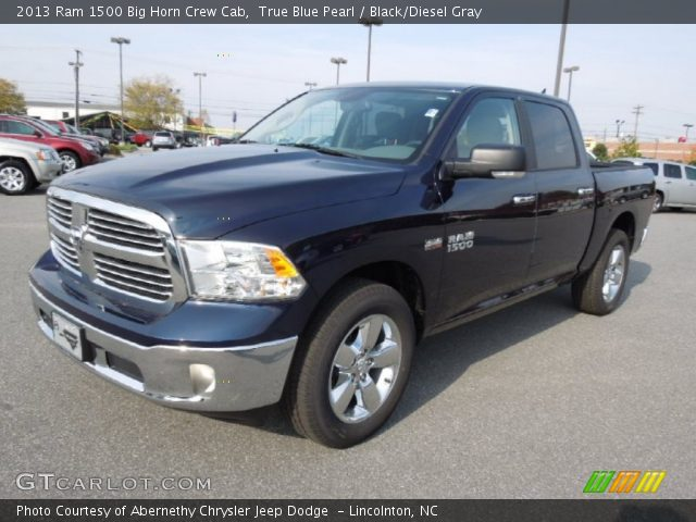 true blue pearl 2013 ram 1500 big horn crew cab black diesel gray interior. Black Bedroom Furniture Sets. Home Design Ideas