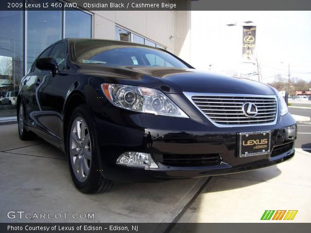 obsidian black 2009 lexus ls 460 awd cashmere beige. Black Bedroom Furniture Sets. Home Design Ideas
