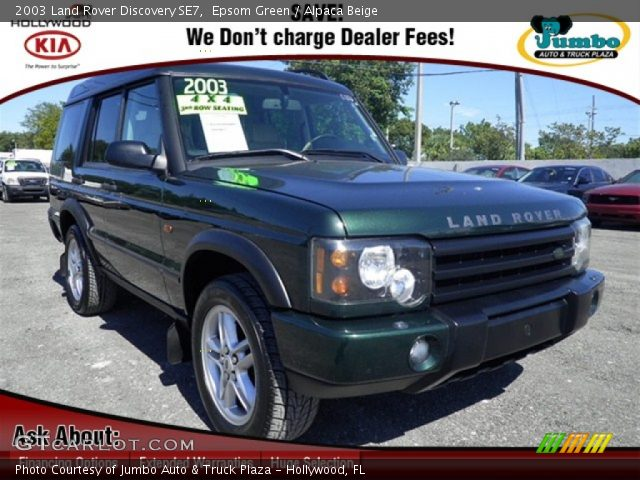 epsom green 2003 land rover discovery se7 alpaca beige interior vehicle. Black Bedroom Furniture Sets. Home Design Ideas