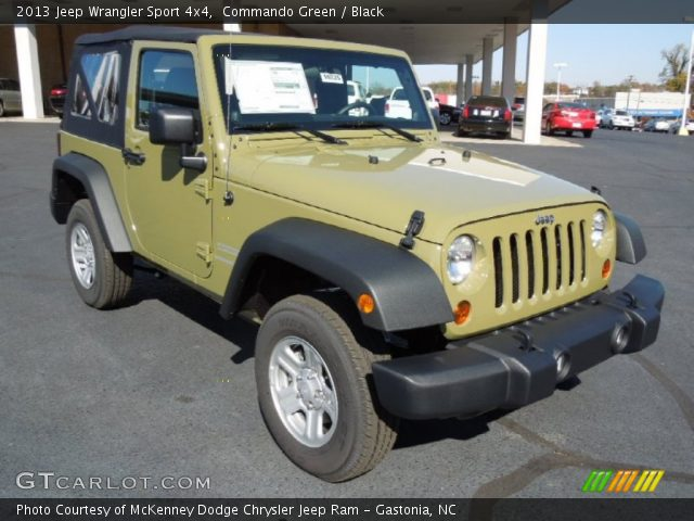 2013 Jeep Wrangler Sport 4x4 in Commando Green