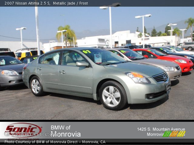 metallic jade 2007 nissan altima 2 5 s frost interior vehicle archive 73289033. Black Bedroom Furniture Sets. Home Design Ideas