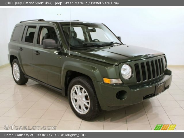 jeep green metallic 2007 jeep patriot sport 4x4 pastel. Black Bedroom Furniture Sets. Home Design Ideas
