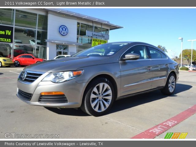 light brown metallic 2011 volkswagen cc sport black interior vehicle. Black Bedroom Furniture Sets. Home Design Ideas
