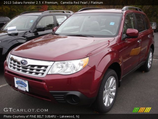 camellia red pearl 2013 subaru forester 2 5 x premium platinum interior. Black Bedroom Furniture Sets. Home Design Ideas