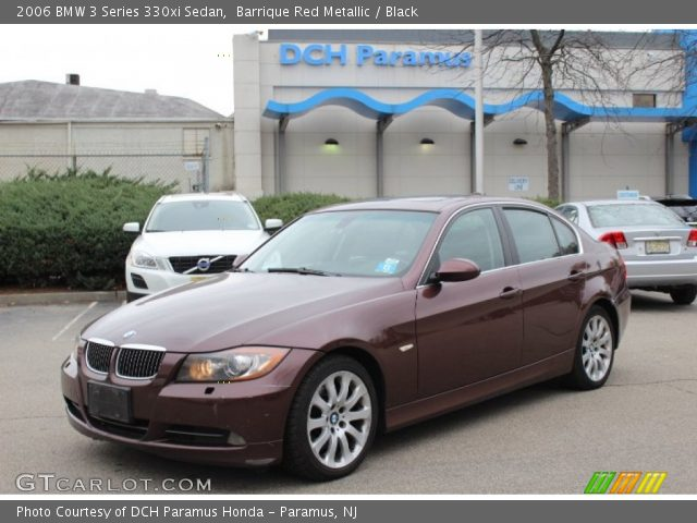 barrique red metallic 2006 bmw 3 series 330xi sedan black interior vehicle. Black Bedroom Furniture Sets. Home Design Ideas