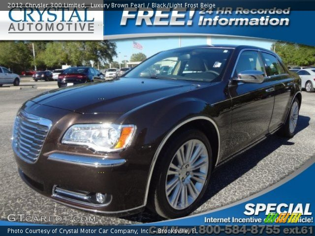 Luxury Brown Pearl - 2012 Chrysler 300 Limited - Black ...