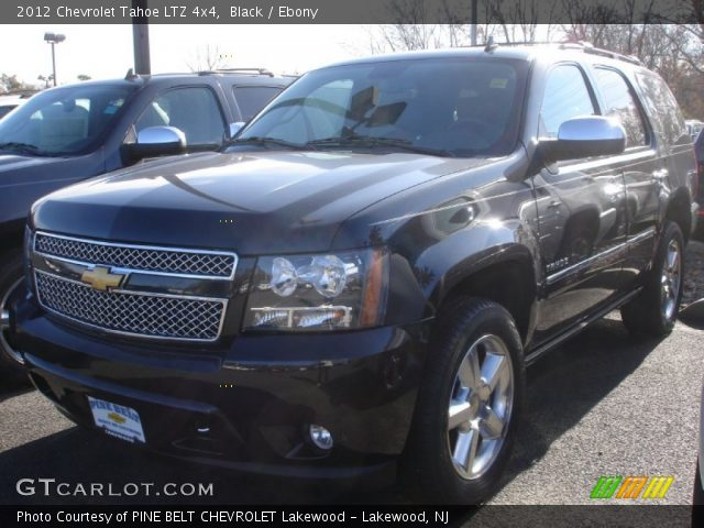 black 2012 chevrolet tahoe ltz 4x4 ebony interior vehicle archive 73347415. Black Bedroom Furniture Sets. Home Design Ideas