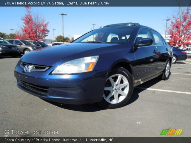 eternal blue pearl 2004 honda accord ex v6 sedan gray interior vehicle. Black Bedroom Furniture Sets. Home Design Ideas