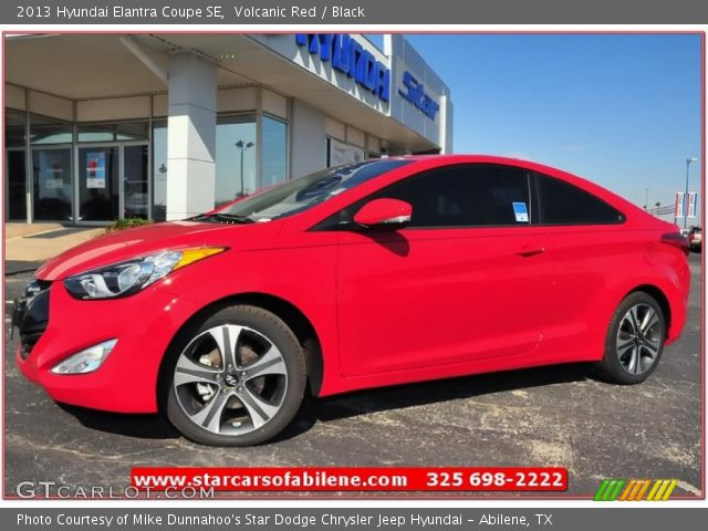 2013 Hyundai Elantra Coupe SE in Volcanic Red