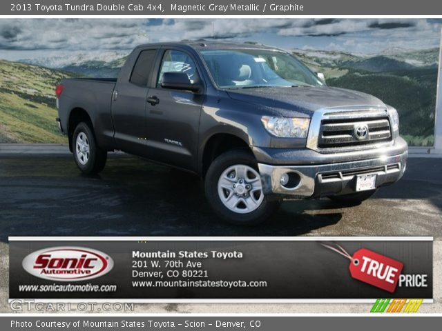 magnetic gray metallic 2013 toyota tundra double cab 4x4 graphite interior. Black Bedroom Furniture Sets. Home Design Ideas