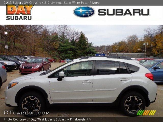 Satin White Pearl 2013 Subaru Xv Crosstrek 2 0 Limited Ivory