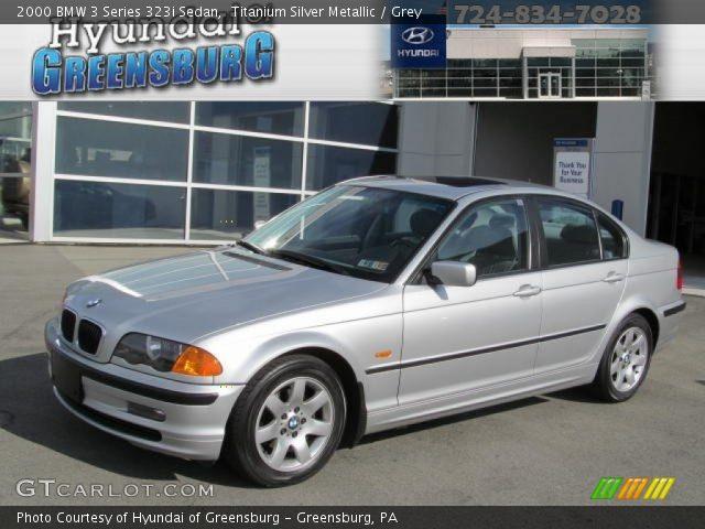 2000 BMW 3 Series 323i Sedan in Titanium Silver Metallic