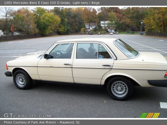 1983 Mercedes-Benz E Class 300 D Sedan in Light Ivory