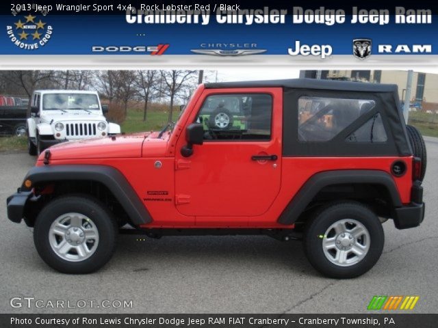 Rock lobster red 2013 jeep wrangler sport 4x4 black - Jeep wrangler red interior for sale ...