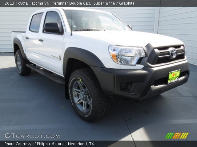 super white 2013 toyota tacoma v6 prerunner double cab graphite interior. Black Bedroom Furniture Sets. Home Design Ideas