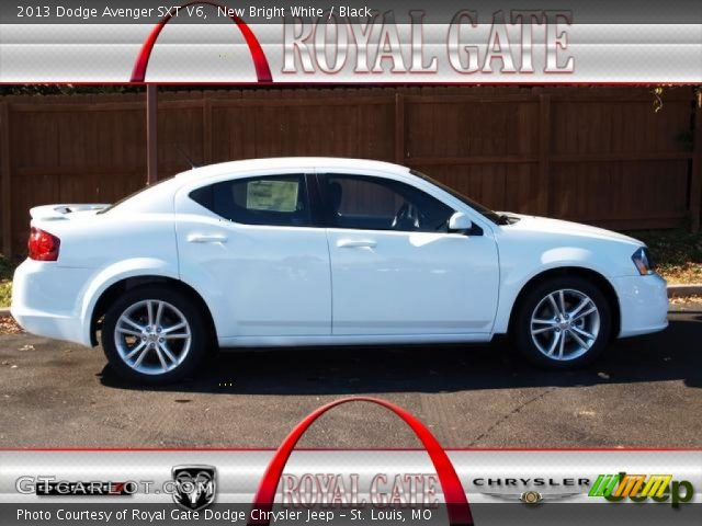 new bright white 2013 dodge avenger sxt v6 black. Black Bedroom Furniture Sets. Home Design Ideas