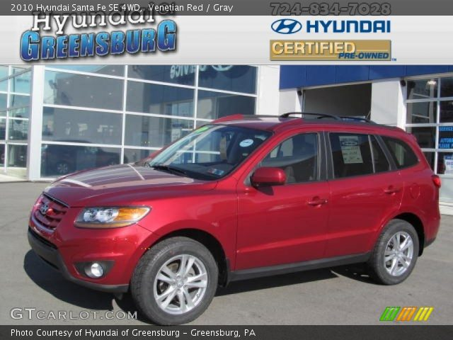 venetian red 2010 hyundai santa fe se 4wd gray interior vehicle archive. Black Bedroom Furniture Sets. Home Design Ideas