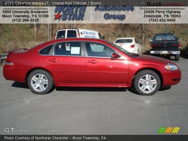 Crystal Red Tintcoat 2013 Chevrolet Impala Lt Ebony Interior Vehicle