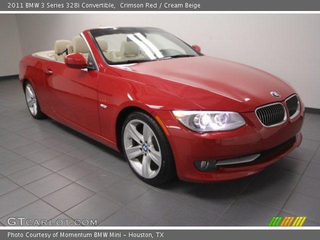 Crimson Red 2011 Bmw 3 Series 328i Convertible Cream Beige Interior Vehicle