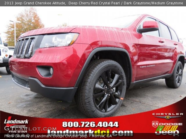 deep cherry red crystal pearl 2013 jeep grand cherokee altitude dark graystone medium. Black Bedroom Furniture Sets. Home Design Ideas