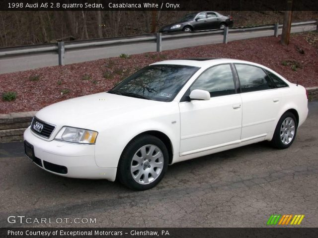 casablanca white 1998 audi a6 2 8 quattro sedan onyx interior vehicle. Black Bedroom Furniture Sets. Home Design Ideas