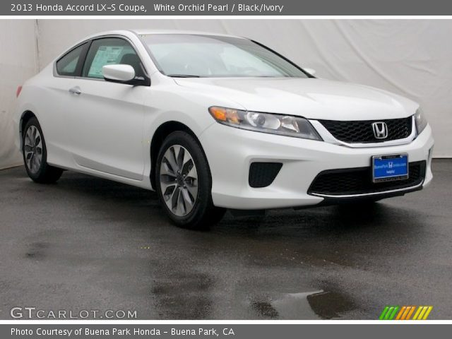 white orchid pearl 2013 honda accord lx s coupe black ivory interior. Black Bedroom Furniture Sets. Home Design Ideas