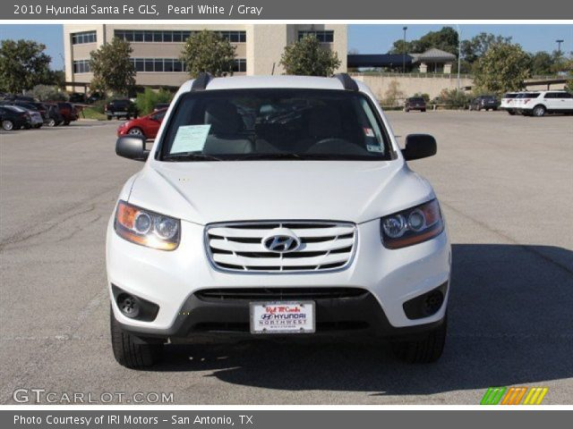 pearl white 2010 hyundai santa fe gls gray interior vehicle archive 73680775. Black Bedroom Furniture Sets. Home Design Ideas