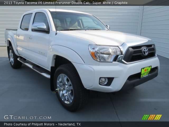 super white 2013 toyota tacoma v6 limited prerunner double cab graphite interior gtcarlot. Black Bedroom Furniture Sets. Home Design Ideas