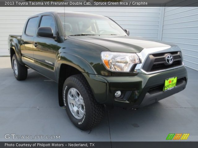 spruce green mica 2013 toyota tacoma v6 prerunner double cab graphite interior gtcarlot. Black Bedroom Furniture Sets. Home Design Ideas