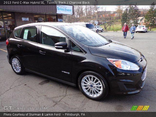tuxedo black 2013 ford c max hybrid se charcoal black interior vehicle. Black Bedroom Furniture Sets. Home Design Ideas