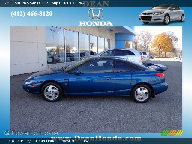 blue 2002 saturn s series sc2 coupe gray interior vehicle archive 73751028. Black Bedroom Furniture Sets. Home Design Ideas