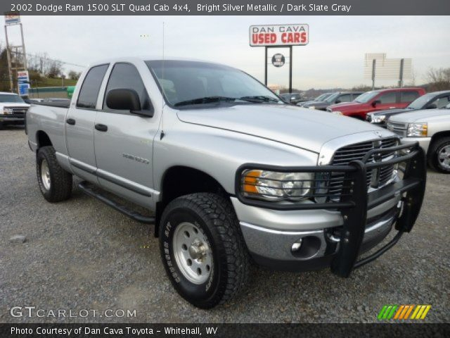 bright silver metallic 2002 dodge ram 1500 slt quad cab 4x4 dark slate gray interior. Black Bedroom Furniture Sets. Home Design Ideas