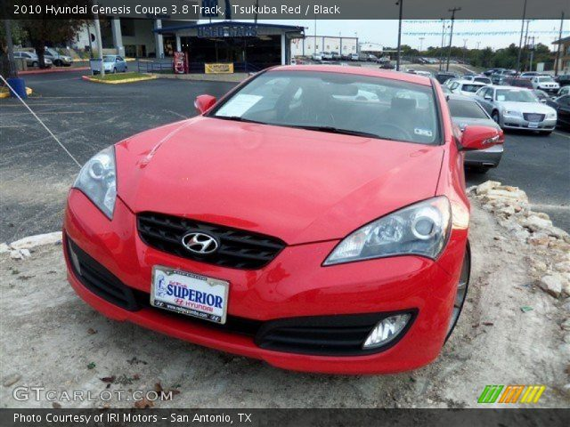 tsukuba red 2010 hyundai genesis coupe 3 8 track black interior vehicle. Black Bedroom Furniture Sets. Home Design Ideas