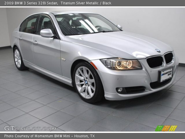 titanium silver metallic 2009 bmw 3 series 328i sedan black interior. Black Bedroom Furniture Sets. Home Design Ideas