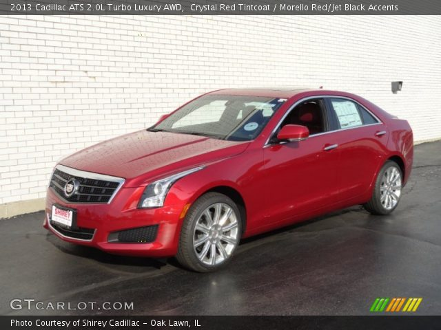2013 Cadillac Ats 2 0 L Turbo >> Crystal Red Tintcoat 2013 Cadillac Ats 2 0l Turbo Luxury Awd
