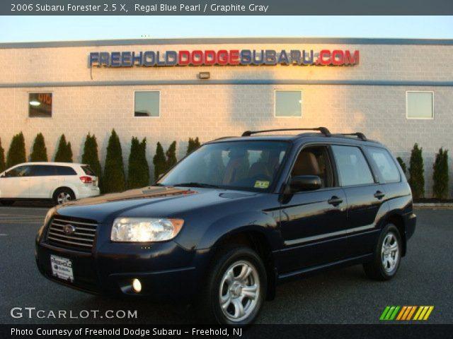 regal blue pearl 2006 subaru forester 2 5 x graphite gray interior vehicle. Black Bedroom Furniture Sets. Home Design Ideas