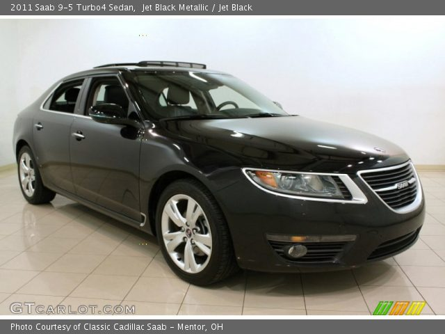 jet black metallic 2011 saab 9 5 turbo4 sedan jet. Black Bedroom Furniture Sets. Home Design Ideas