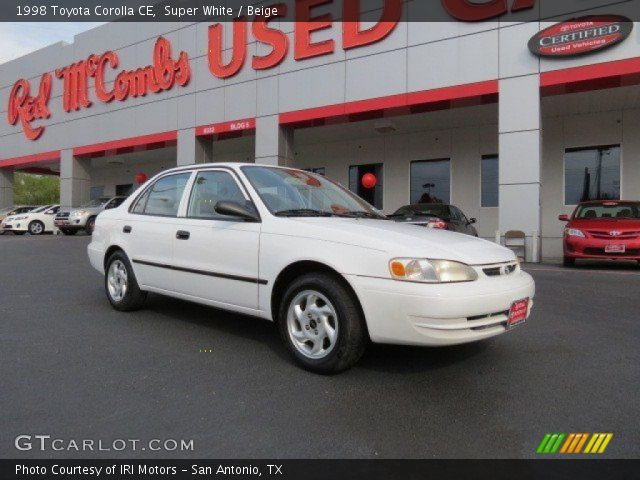 1998 Toyota Corolla CE in Super White