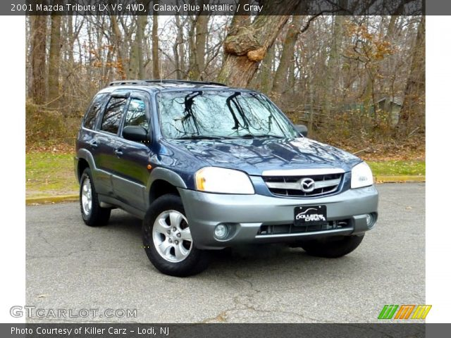 galaxy blue metallic 2001 mazda tribute lx v6 4wd gray interior vehicle. Black Bedroom Furniture Sets. Home Design Ideas